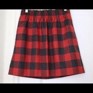 JCrew Buffalo Plaid City Skirt